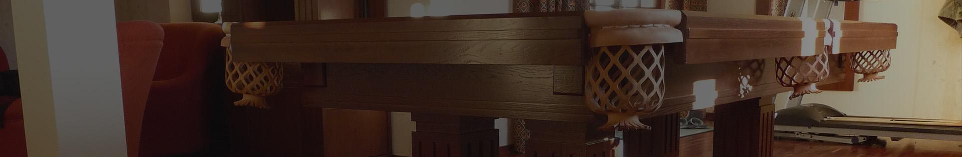 stół bilardowy drewniany